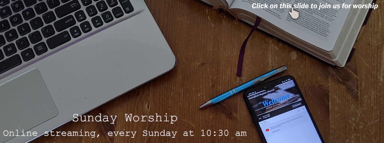 Online Worship Slide & link